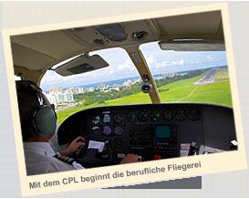 Mit dem CPL beginnt die berufliche Fliegerei